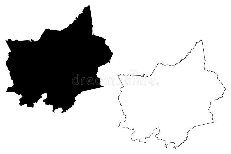 平福省地图传染媒介 皇族释放例证