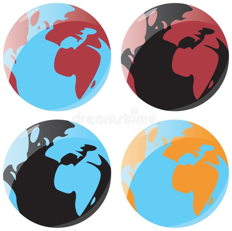 平稳地球的图标 向量例证