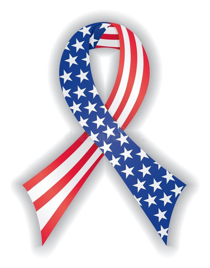 平稳美国国旗的丝带 皇族释放例证