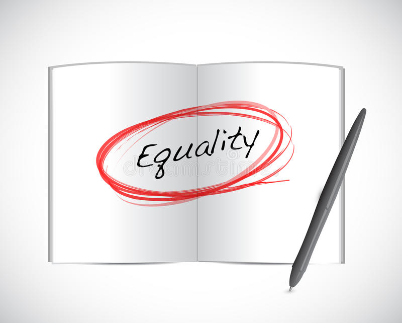 平等书标志例证设计 库存例证
