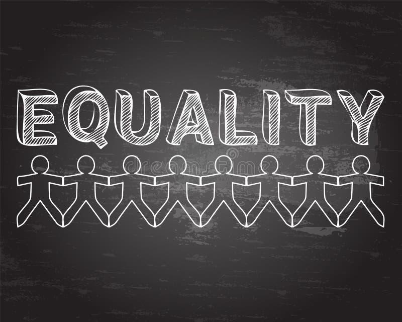 平等人黑板 库存例证