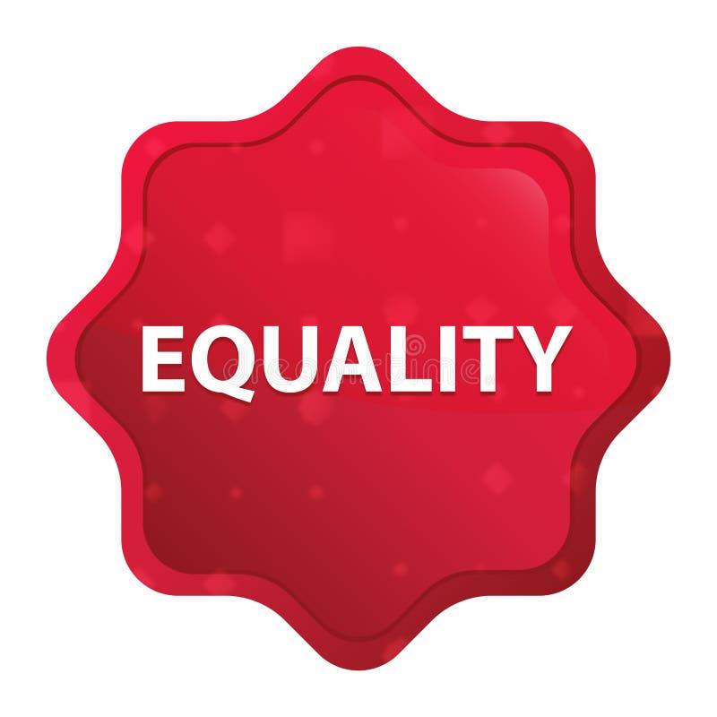 平等有薄雾的玫瑰红的starburst贴纸按钮 皇族释放例证