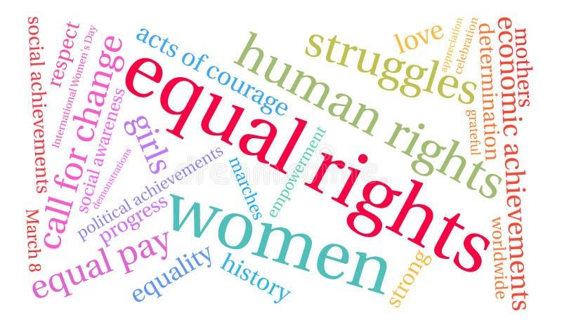 平等权利词云彩 向量例证