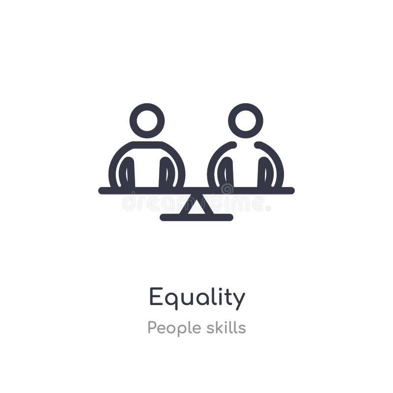平等概述象 r 编辑可能的稀薄的冲程平等象 库存例证