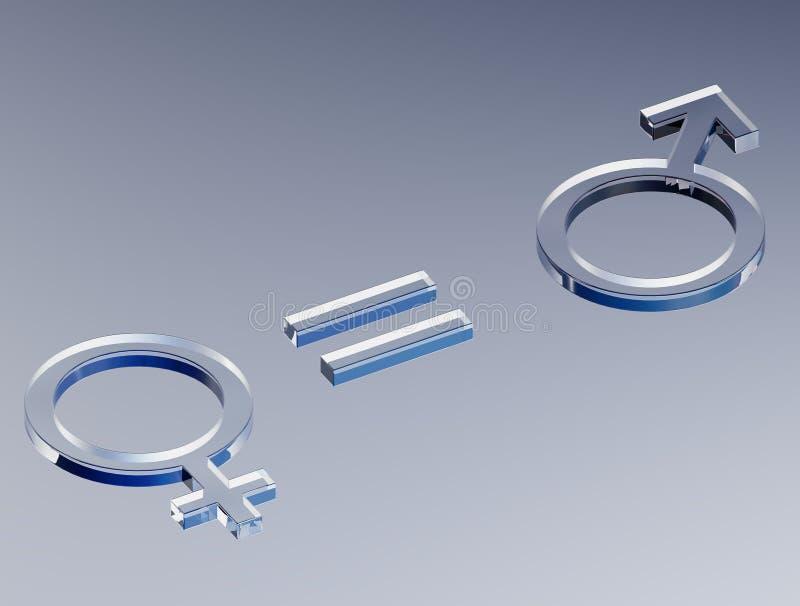 平等火星-金星 库存例证