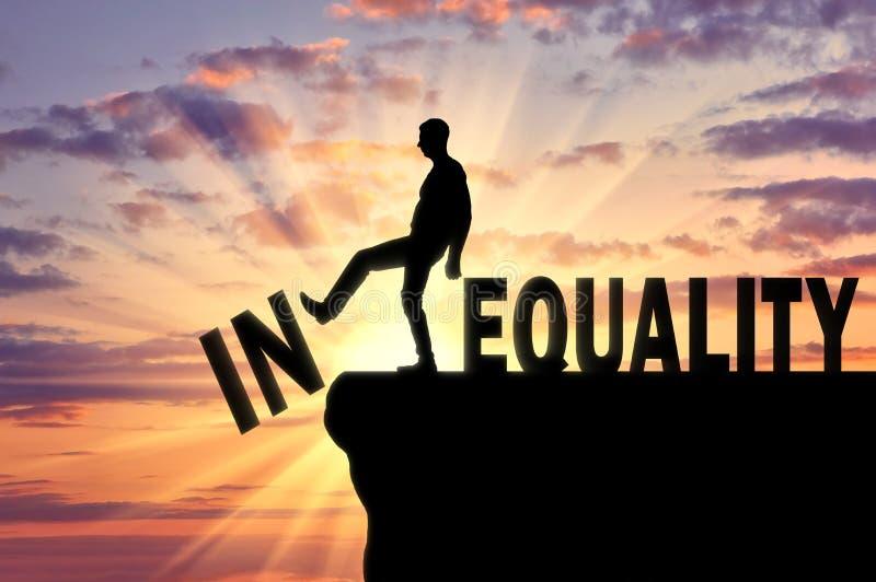 平等的概念在社会的 皇族释放例证