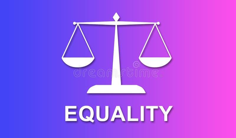 平等的概念 皇族释放例证
