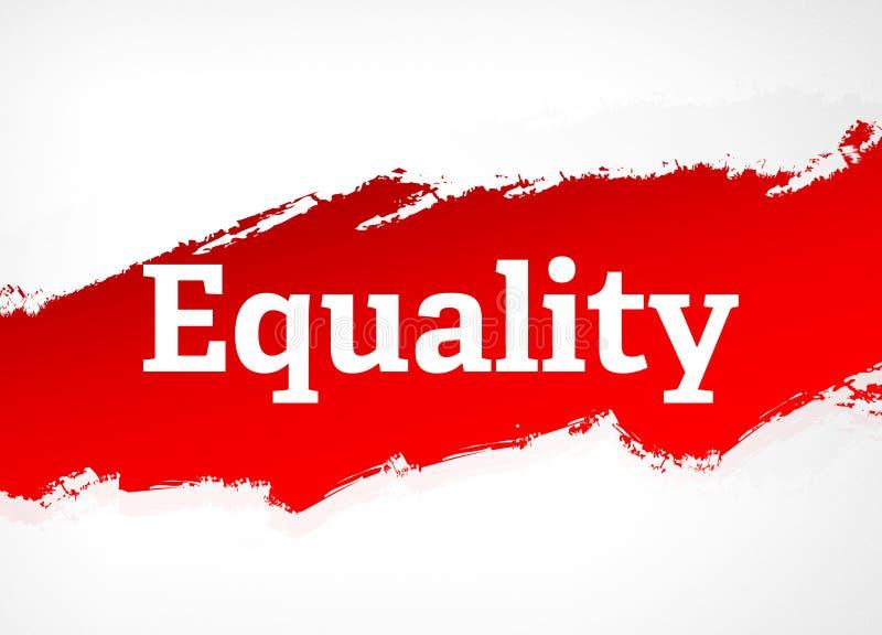 平等红色刷子摘要背景例证 向量例证