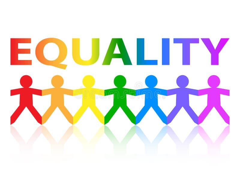 平等纸人彩虹 向量例证