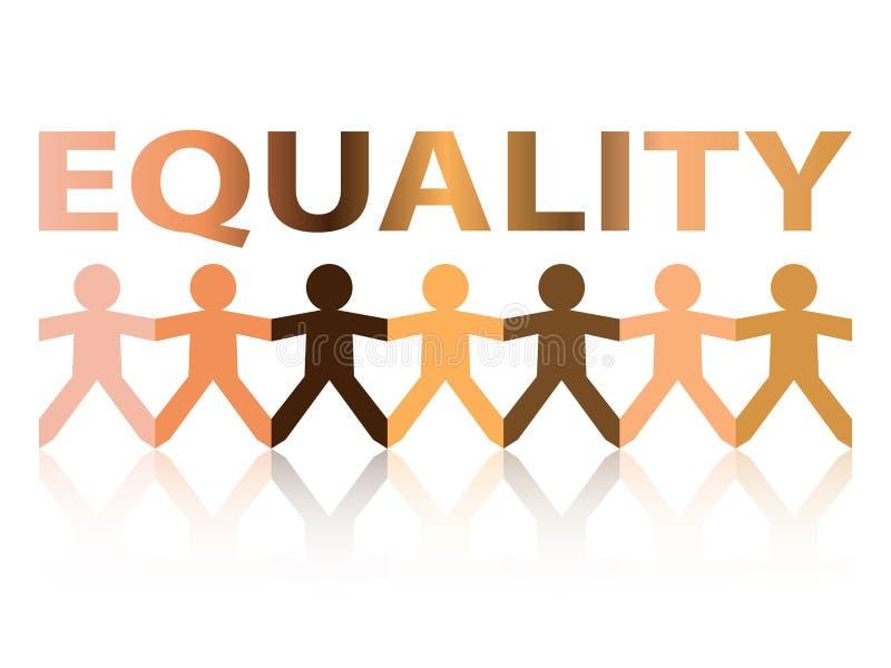 平等纸人民 向量例证