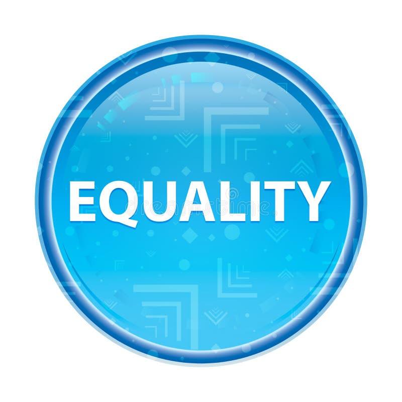 平等花卉蓝色圆的按钮 皇族释放例证
