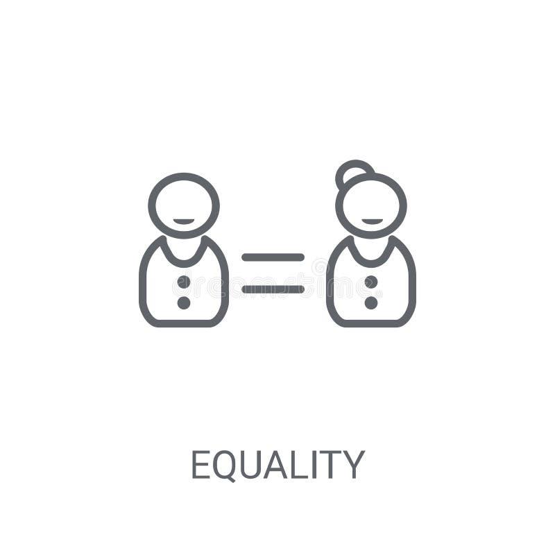 平等象 在白色背景的时髦平等商标概念 向量例证