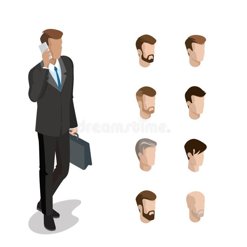 平等量顶头面孔键入人发型负面因素 皇族释放例证