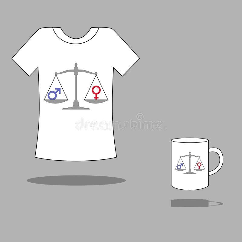 平等 向量例证