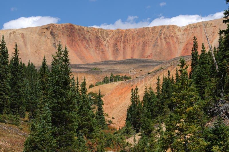 水平红色的峭壁- 库存照片