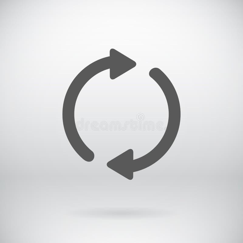平脊标志传染媒介刷新标志背景 库存例证