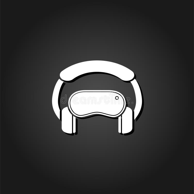 平虚拟现实的象 库存例证