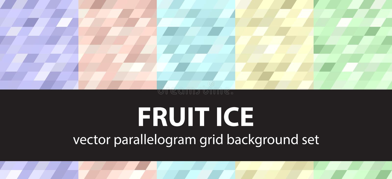 平行四边形样式集合果子冰 传染媒介无缝的几何背景 向量例证