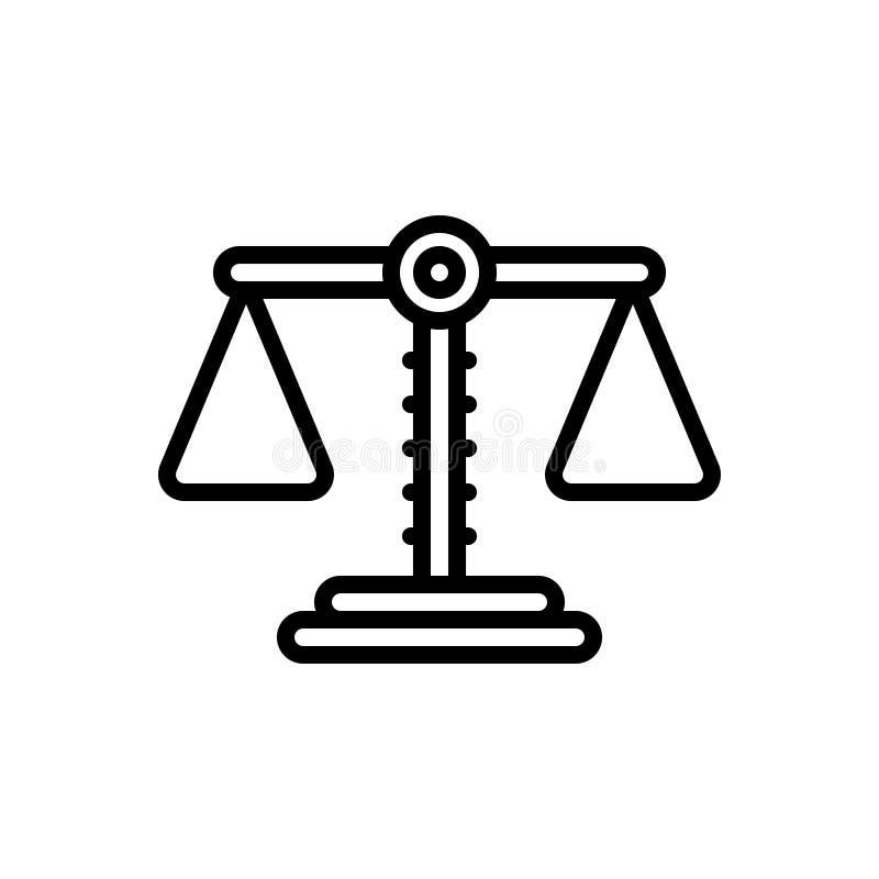 平衡、平衡和世故的黑线象 皇族释放例证