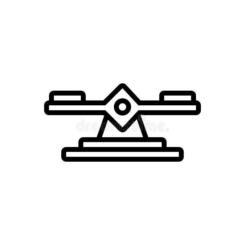 平衡、正直和标度的黑线象 皇族释放例证