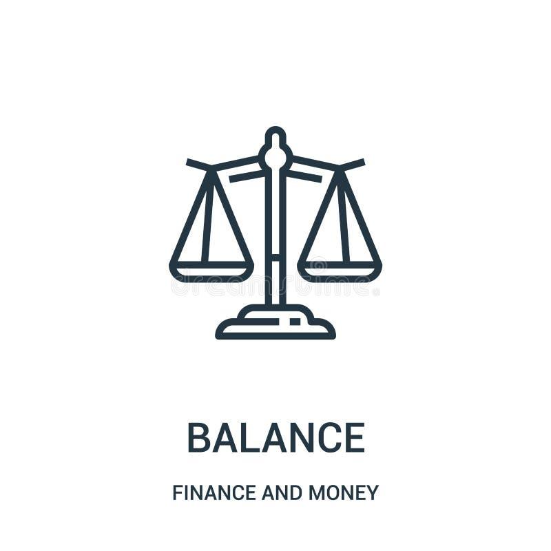 平衡从财务和金钱汇集的象传染媒介 稀薄的行余额概述象传染媒介例证 库存例证