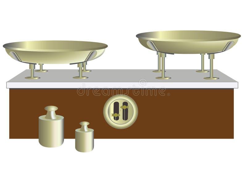 平衡和重量 向量例证