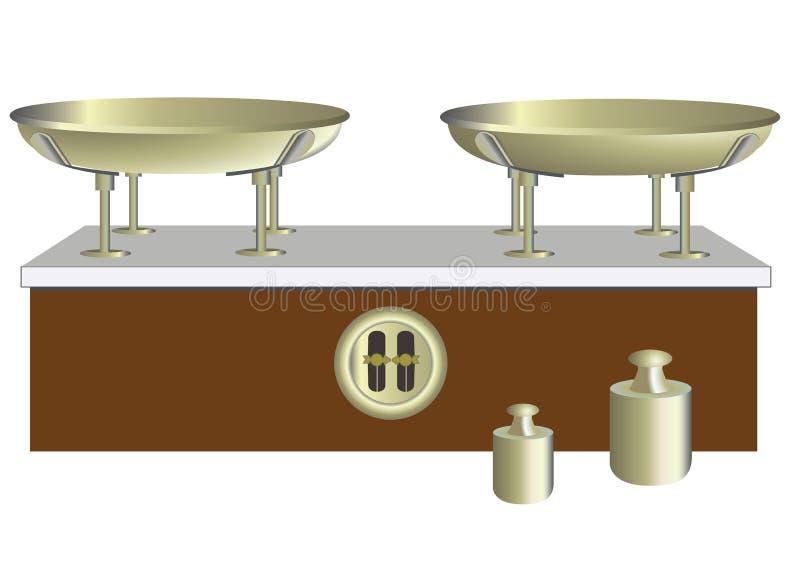 平衡和重量 库存例证