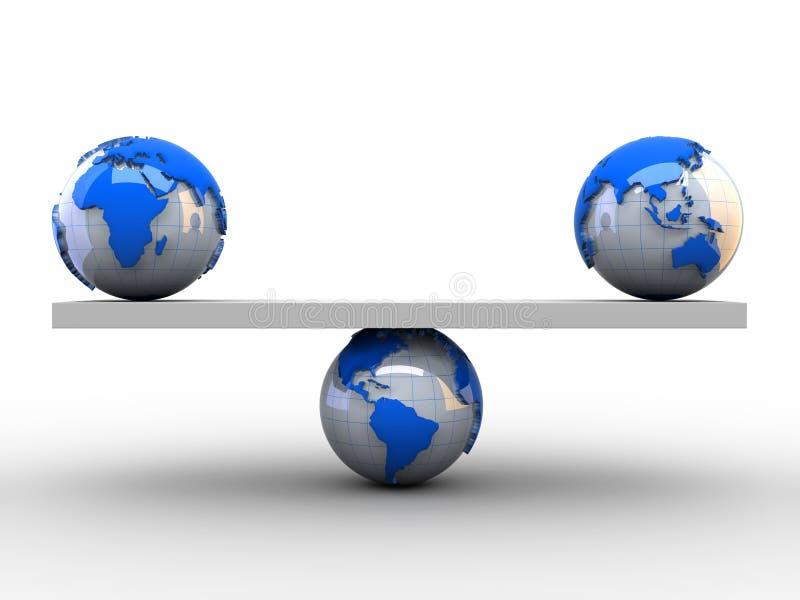 平衡国际 向量例证