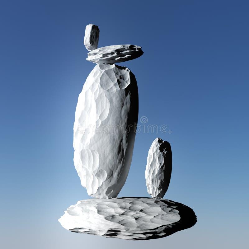 平衡岩石 向量例证