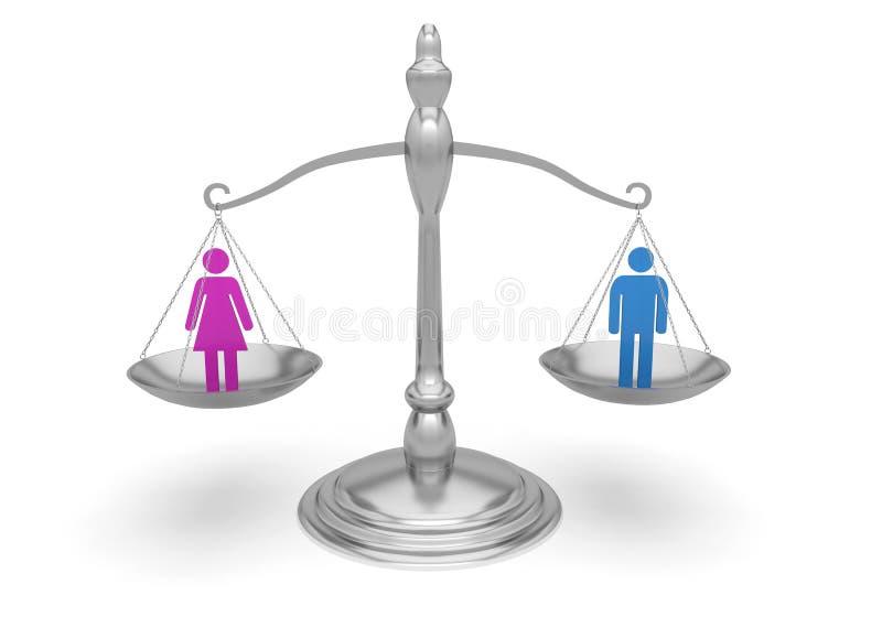平衡平等人妇女 皇族释放例证