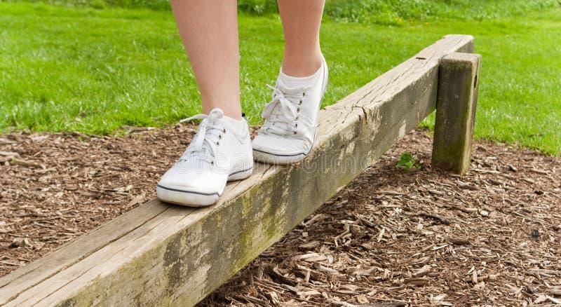 平衡平衡木英尺 免版税库存照片