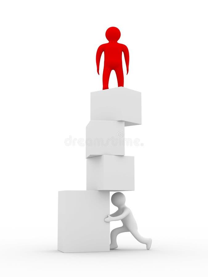 平衡我不稳定 向量例证