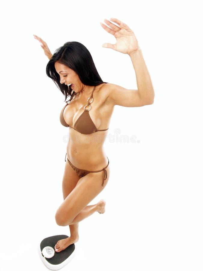 平衡拉丁妇女 库存照片
