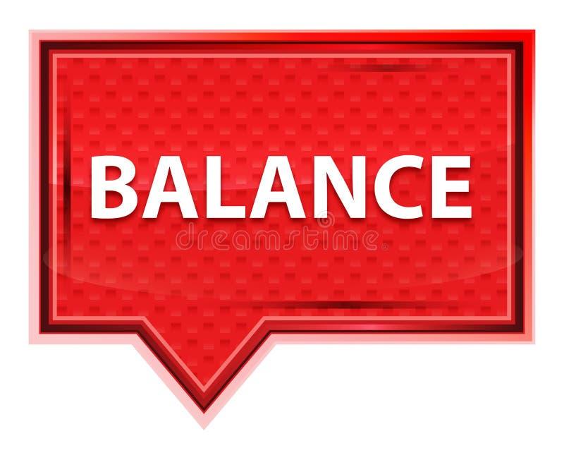 平衡有薄雾的淡粉红色横幅按钮 库存例证