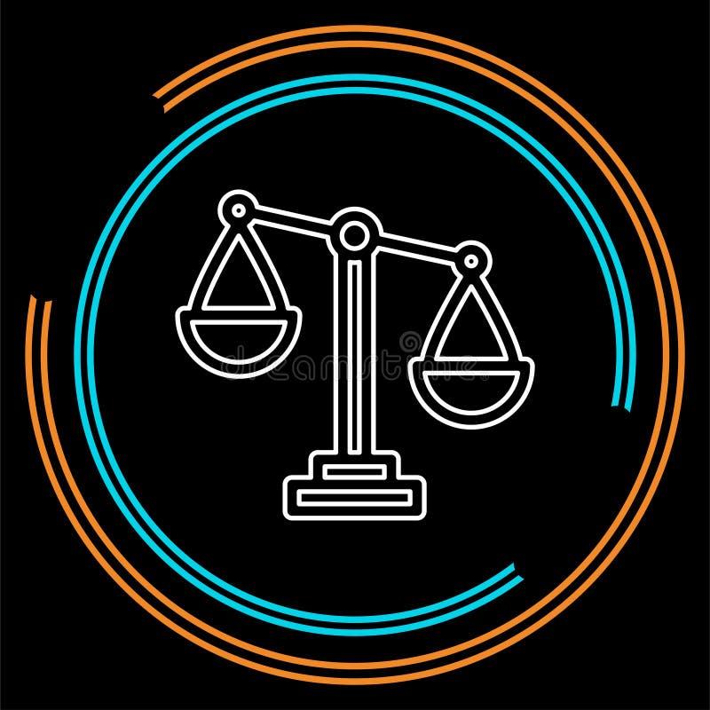 平衡标度象,平衡标志-正义标志 向量例证