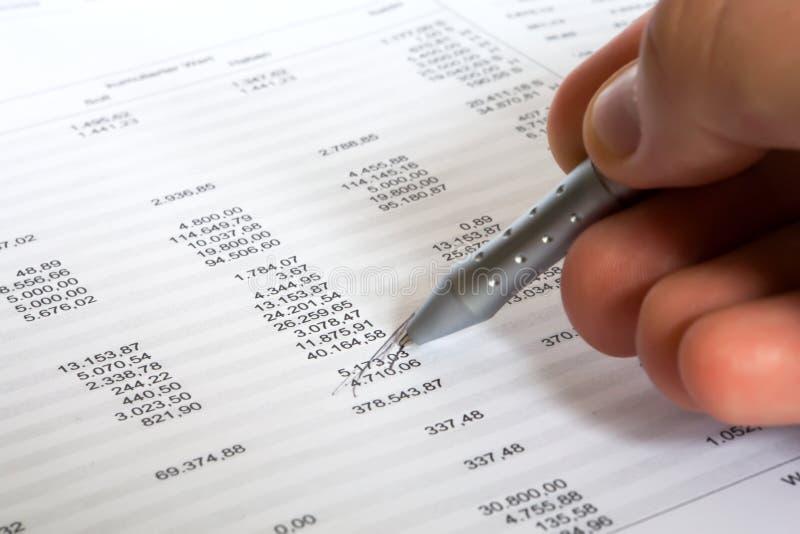 平衡检查 免版税库存图片