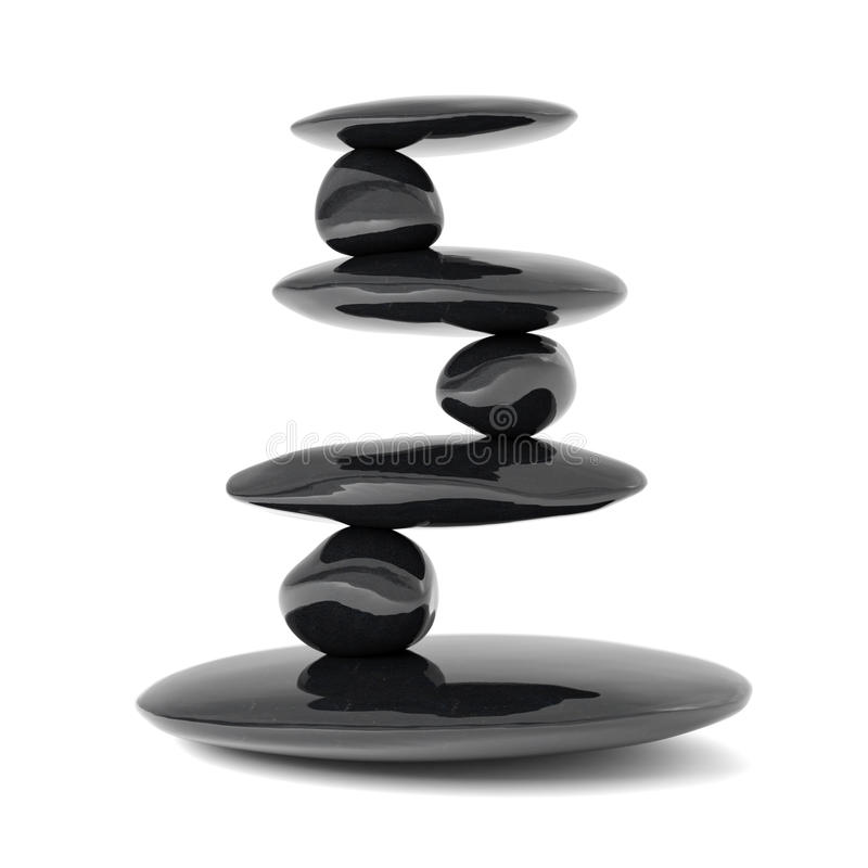 平衡概念向禅宗扔石头 皇族释放例证