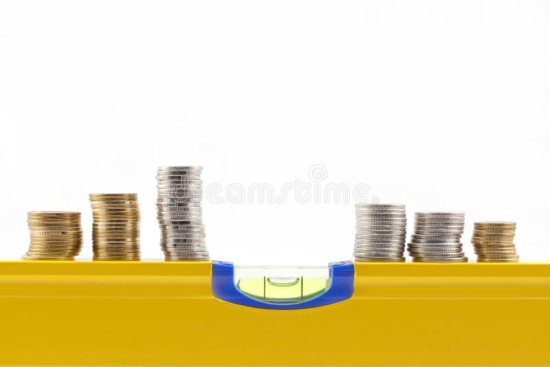 平衡概念货币 免版税库存照片