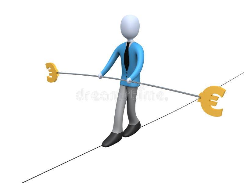 平衡欧元 向量例证