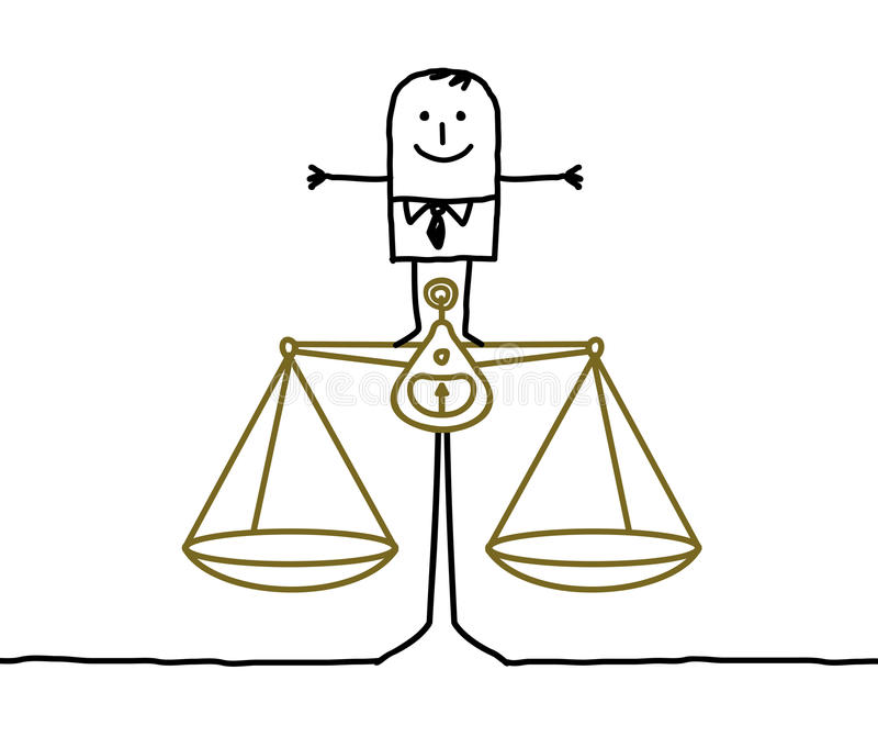 平衡正义人 向量例证