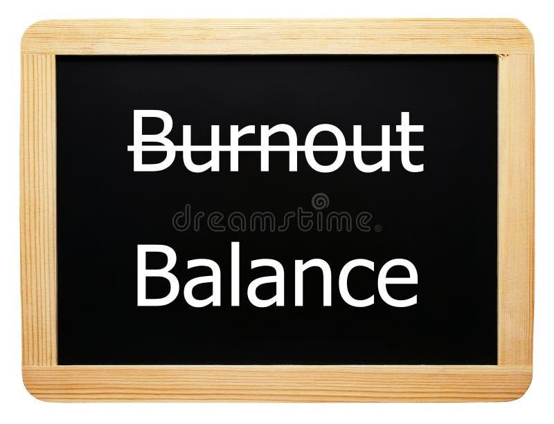 平衡烧坏概念符号 库存图片