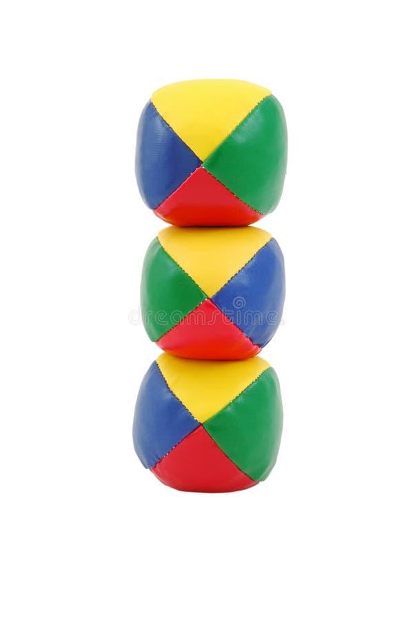 平衡球玩杂耍 免版税库存照片