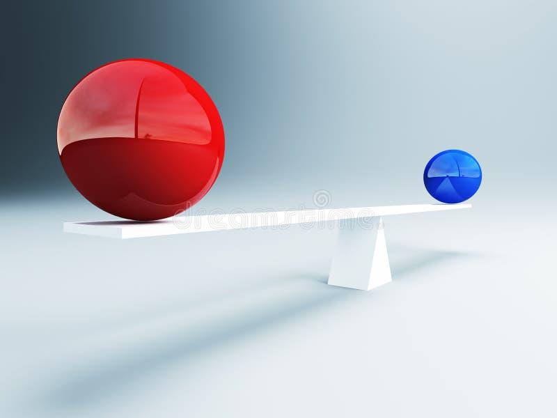 平衡球 皇族释放例证