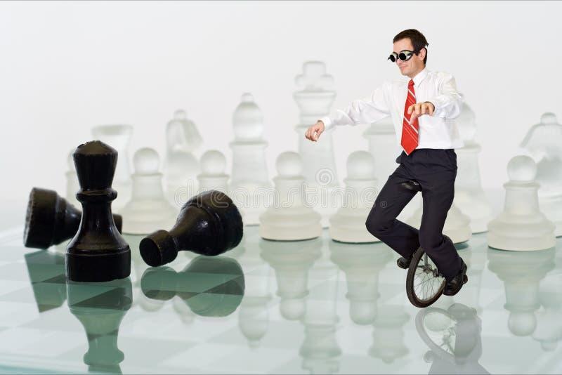 平衡生意人保持 免版税库存照片