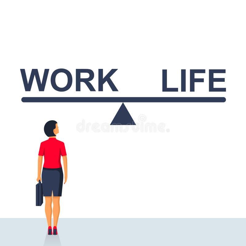 平衡生活和工作 向量例证
