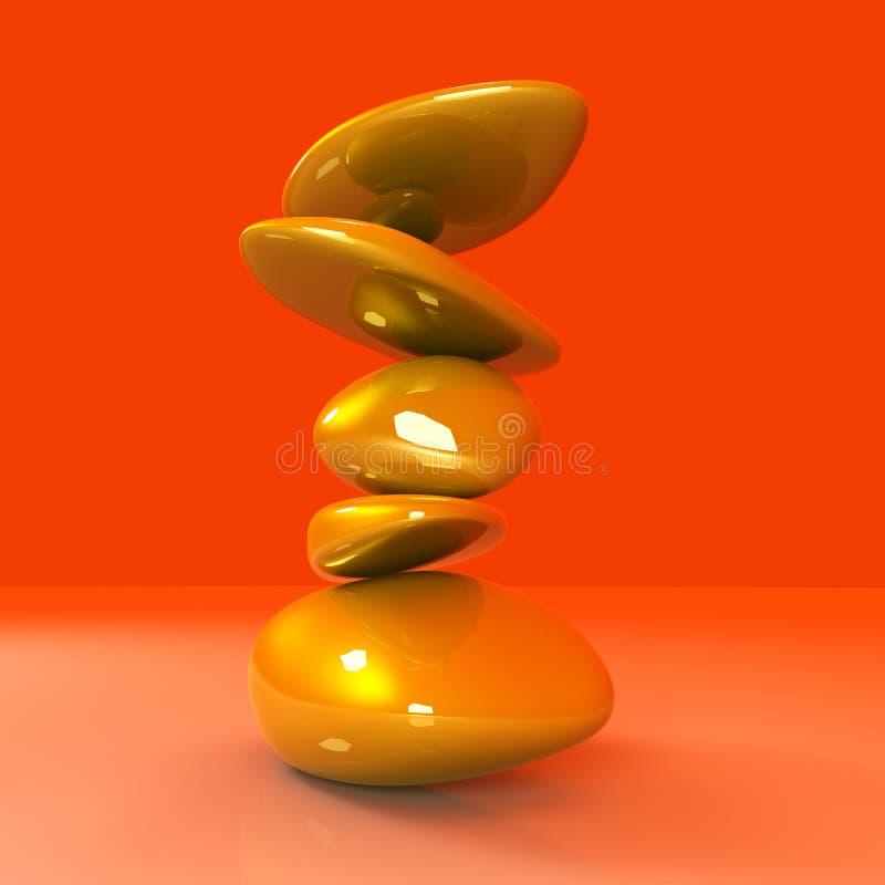 平衡的块金 库存例证