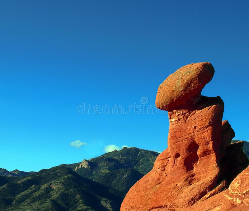 平衡的形成岩石 免版税库存图片