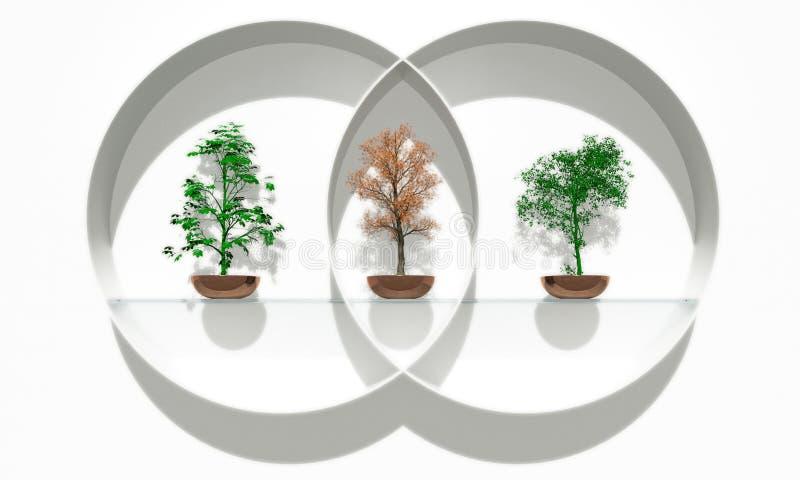 平衡的树 向量例证