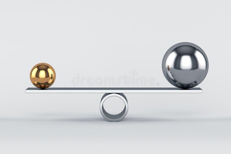 平衡的概念 皇族释放例证