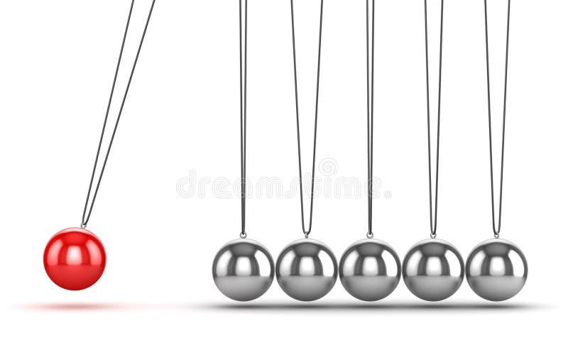 平衡的球牛顿摇篮 向量例证